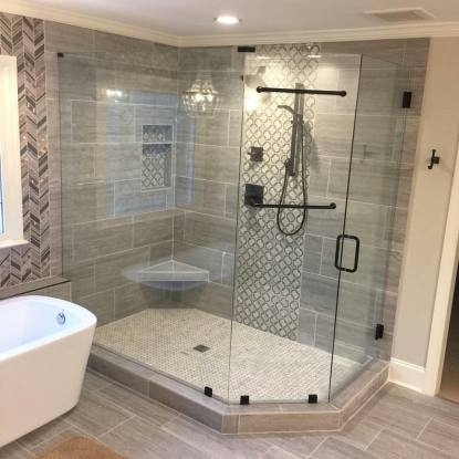 custom designed frameless shower door glass enclosure